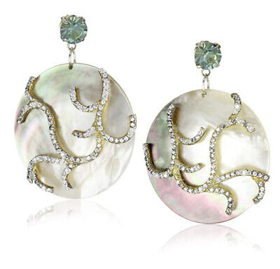 "Joanna Laura Constantine ""Aqua"" Shell Earrings. R42"