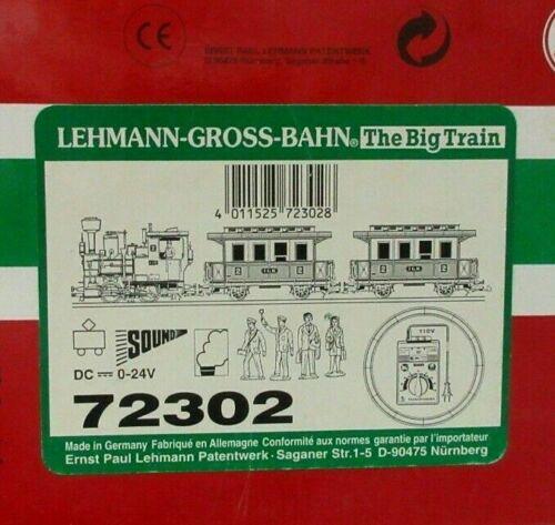 LGB 72302 PASSENGER SET W SOUND & SMOKE