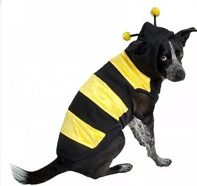 Bumble Bee Halloween Costumes For Dogs (Large Bumble Bee Dog Pet Halloween Costume Antennae Hoodie Seatshirt)