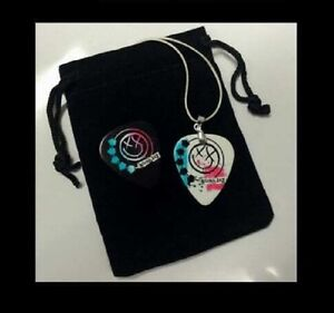 BLINK 182 Guitar Pick Necklace + EXTRA Spare Guitar Pick. Great Gift! FREE POST