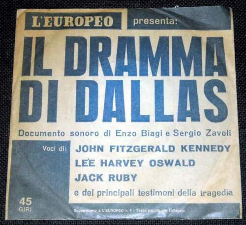 Lp 45 giri il dramma di dallas l'europeo
