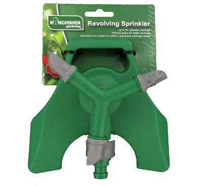 Garden Revolving Sprinkler 3-arm Fitting Hose Outdoor Water Spray Sprikle