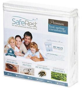 Queen-SafeRest-Premium-Hypoallergenic-Bed-Bug-Proof-Box-Spring-Encasement