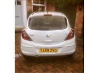 White Vauxhall Corsa Sxi 1.2 2009