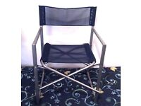 BLUE DIRECTORS CHAIR, FOLDING (HEAVY DUTY) BARGAIN AT THIS PRICE!