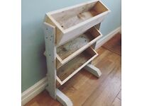 Pallet furniture 3 tier herb planter upcycled reclaimed vintage rustic shabby chic