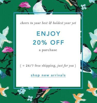 20% Off ANTHROPOLOGIE Entire Purchase Promo-Coupon Code Ex 1/31 Online/In Store