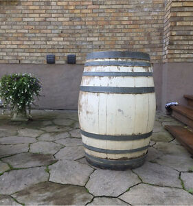 White Wooden Barrel