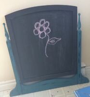 Antique mirror turned into chalkboard