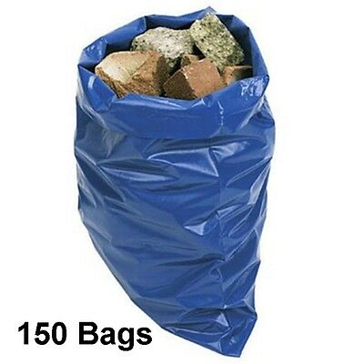150 Super Strong Rubble Sacks Extra Thick 32L Industrial Garden Waste Builders