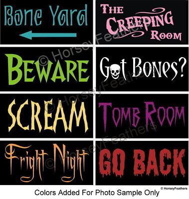 NEW-Halloween Party-Pack Bundle of 8 STENCILS~DIY U Paint House Porch Scary - Halloween Stencils Scary