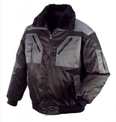 Pilotenjacke Arbeitsjacke 4 in 1 Jacke TEXXOR schwarz/grau, Größe XL
