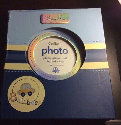 Baby Boy's CAR Blue B is for Beep Keepsake Box & Photo Album Set ()