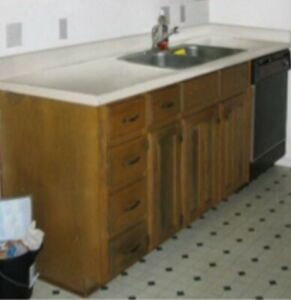 ISO kitchen counter base with sink