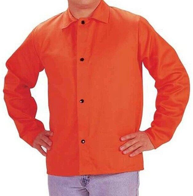 """30"""" Hi-Viz Orange 9 Ounce Westex Proban FR7A Cotton Flame Retardant Jacket, New"""