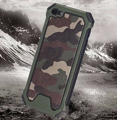 (For iPod Touch 5th /6th Gen - HARD HYBRID HIGH IMPACT ARMOR CASE CAMO ARMY GREEN)