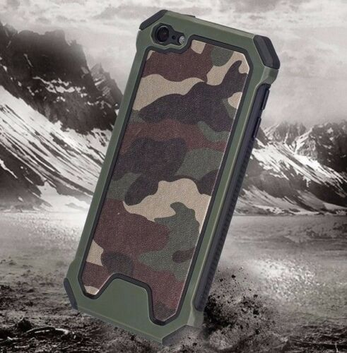 iPod Touch 5th 6th 7th Gen - HARD HYBRID HIGH IMPACT ARMOR CASE CAMO ARMY GREEN