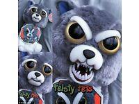 Feisty Pets Wolf Dog Plush Toy Prank - New