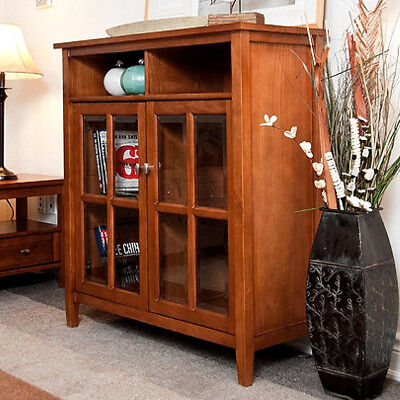 Mission Craftsman Shaker Solid Pine Entertainment Center TV Stand Cabinet - New! Pine Entertainment Stand