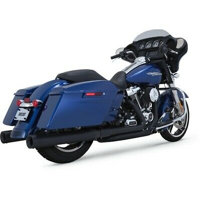 Vance & Hines Black Dresser Dual Head Pipes for Harley 17-Up Milwaukee