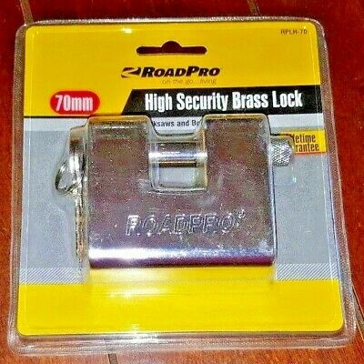Road Pro High Security Brass Lock 70mm Resists Sawbolt Cutters Model Rplh-70