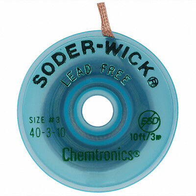 Chemtronics 40-3-10 Soder-wick Lead Free Sd Desoldering Braid