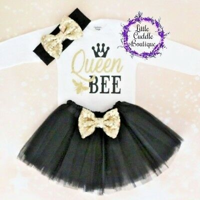 Queen Bee Outfit (Queen Bee Baby Tutu Outfit, Bee Birthday Outfit, Bee Party, Bee Bodysuit,)