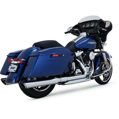 Vance & Hines Chrome Dresser Dual Head Pipes for Harley 17-Up Milwaukee