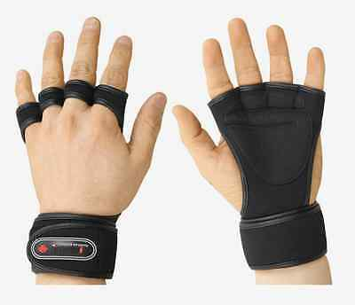 TROVIS One Size MEN Wrist Wrap Gloves GYM Weight Lifting Fitness Training