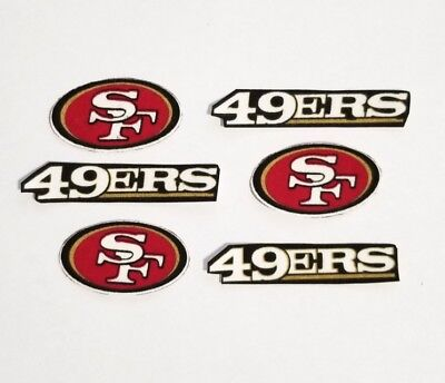 6pc San Francisco 49ers fabric iron on applique Patch crafts NFL football red