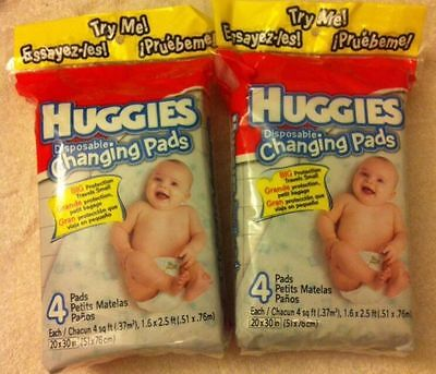 Lot of 2 ~ Huggies Gentle Care Disposable Changing Pads ~NIP