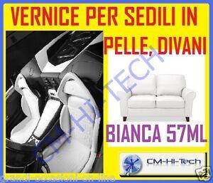 Kit ritocco per auto epoca sedili in pelle sedia poltrona borsa divano bianco - Kit riparazione pelle divano ...