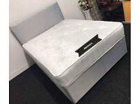 Decent Fabric & Double Divan Bed & Quality Mattress ! Flat SALE