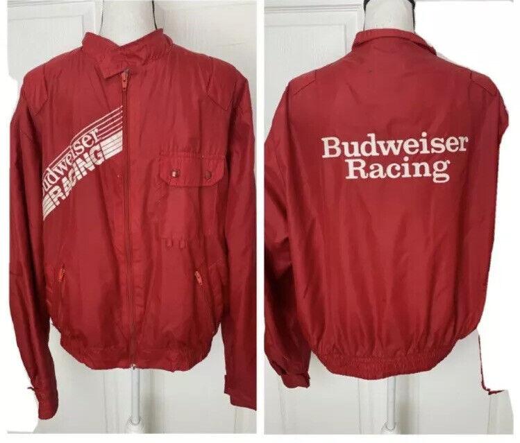 Vintage Budweiser Racing Windbreaker Jacket