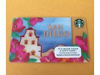STARBUCKS 2016 SAN DIEGO MISSION BOUGAINVILLEA FLOWERS GIFT CARD SERIES #6130