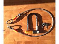 Kryptonite Evolution Bike lock with extra cable & 3 keys