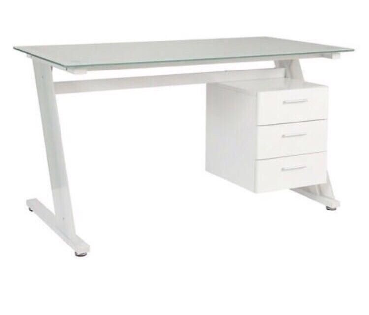 Zena Glass Top Desk John Lewis 3 Drawer 18