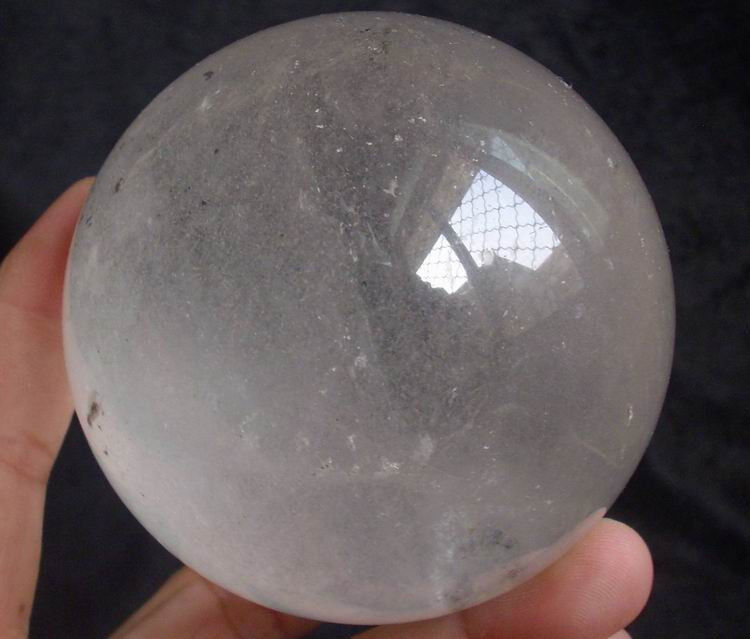 "3.1"" 1.5LB NATURAL PHANTOM GHOST CLEAR QUARTZ CRYSTAL SPHERE BALL HEALING"