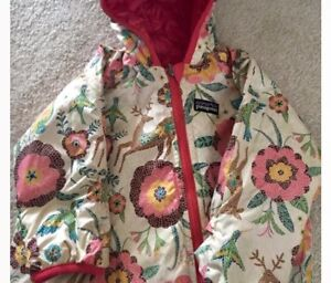 Pantagonia puff -ball Toddler Girl reversible snowsuit.