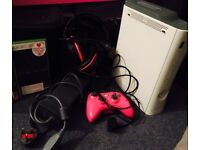 Xbox 360 + Pre-installed games and accessories
