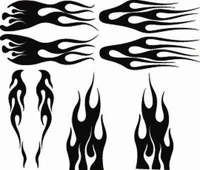 RC airbrush stencils/ paint masks flame set 2(SINGLE USE (Fire Paint Set)