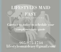 """""""Lifestyles Maid Easy"""" cleaning service..."""