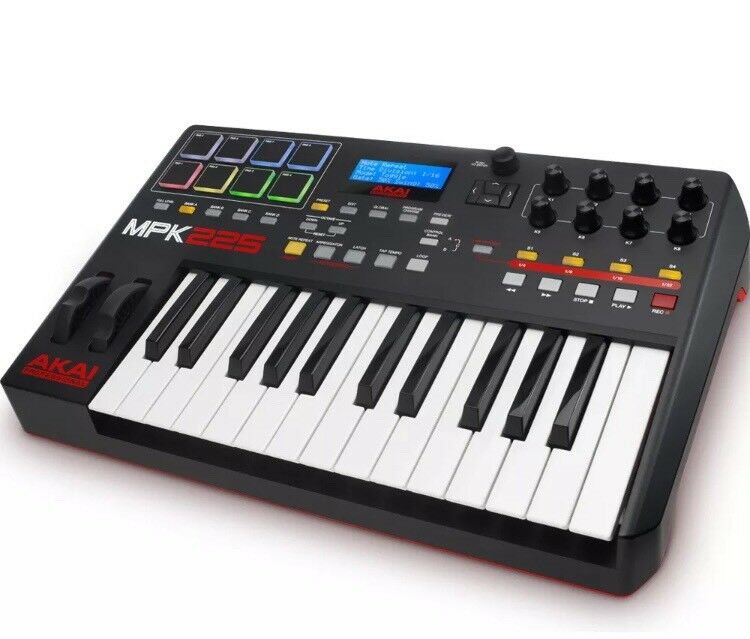 Akai MPK225 midi keyboard boxed as new