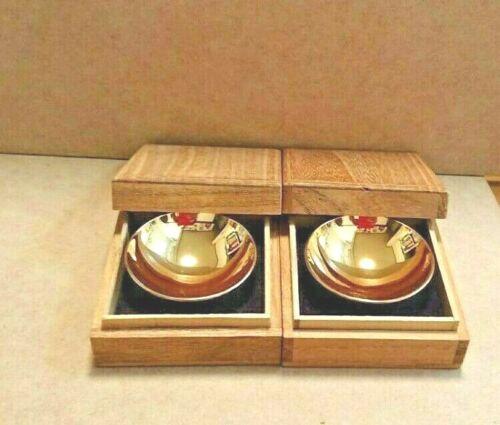 Japan sake cup sakazuki zuiho Gold Plated pair