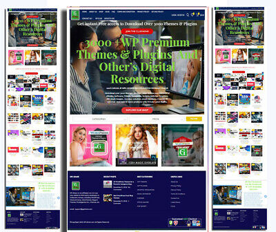 Digital Product Selling Membership Website With 3000  Products Pre-installed