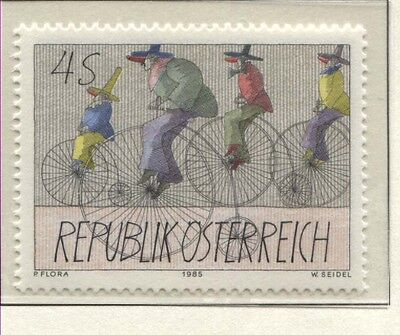 Österreich Austria 1829 Moderne Kunst: Hochradfahrende Karnevalisten - 1985 **