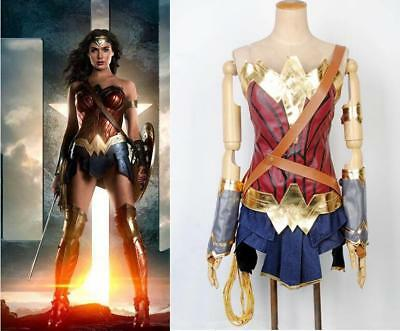 Kid Girl Wonder Woman Diana Cosplay 9Pcs Set Outfit Halloween Cosplay Costume - Children's Wonder Woman Halloween Costume