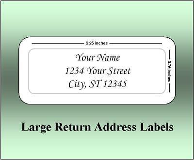 Large Return Address Labels (60 Large Return Address Labels. 2.25 x 0.75 Inches. Ships Free. )