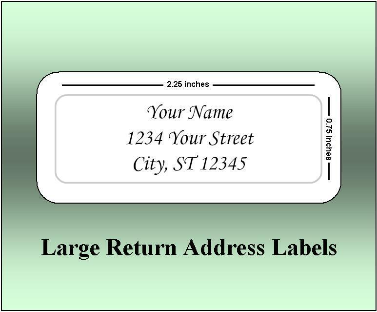 150 Large Return Address Labels. 2.25 X 0.75 Inches. Ships Free. - $5.00