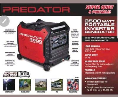 Predator 3500 Watt Super Quiet Inverter Generator